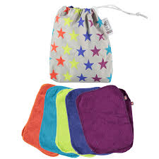 Pop-in Bamboo Cloth Wipes Brights