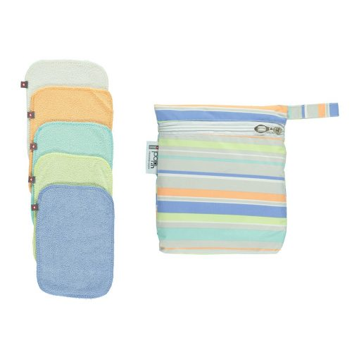 Pop-in Bamboo Cloth Wipes - Pastels