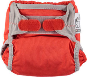 Pop-in bamboo nappy fiesta red